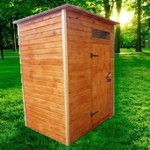 Душ для дачи деревянный Д-2 №4 1.5х1.5х2.2м