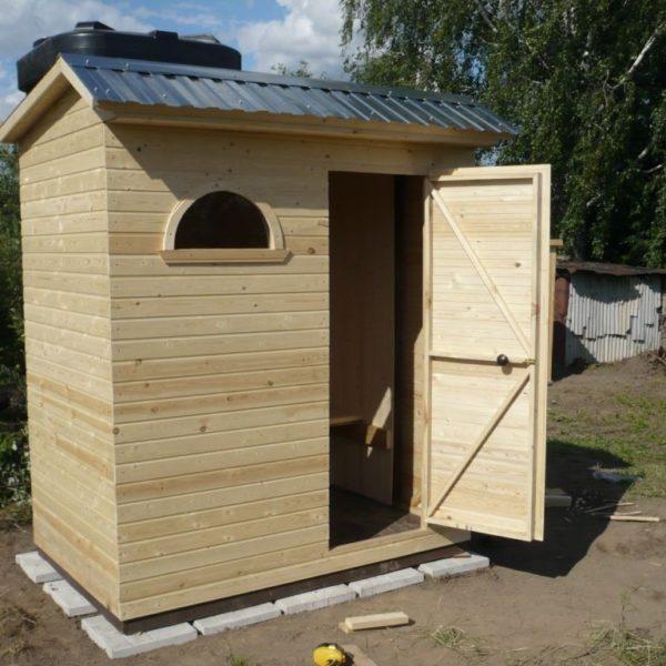 Душ для дачи деревянный Д-4 №3 3.0х1.5х2.4м