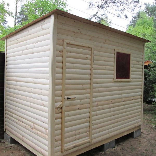 Душ для дачи деревянный Д-6 №1 2.0х1.0х2.1м