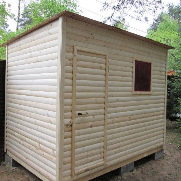 Душ для дачи деревянный Д-6 №5 4.0х2.0х2.3м