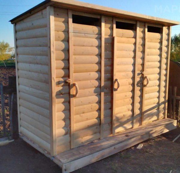 Хозблок с туалетом и душем Ф-13 №5 4х1.5х2.3 м