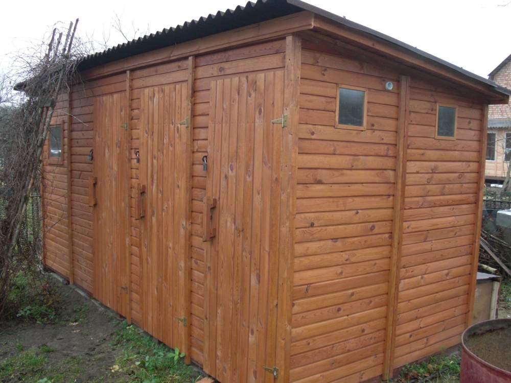 Хозблок с туалетом и душем Ф-3 №5 4х1.5х2.3м