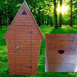 Туалет дачный деревянный Ёлка К-8 №1 1.0х1.0х2.6  м