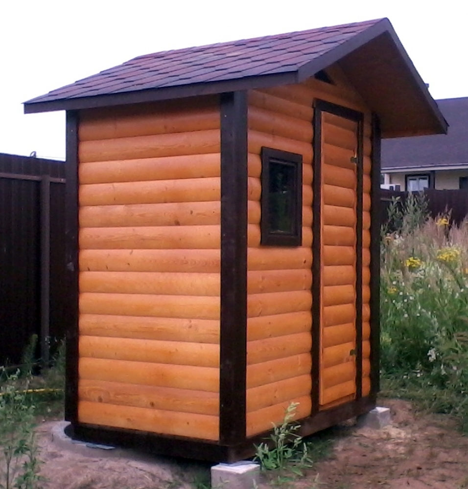 Туалет дачный деревянный К-17 №2 1.4х1.0х2.4 м
