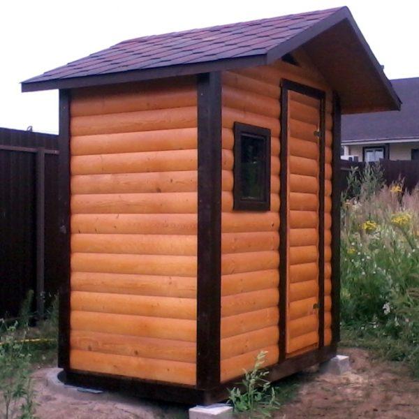 Туалет дачный деревянный К-17 №6 1.5х1.5х2.5 м