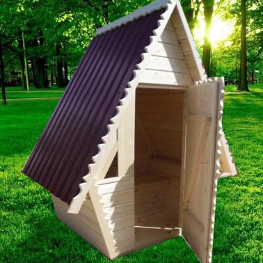 Туалет дачный деревянный Кабина К-12 №6 1.5х1.5х2.6  м