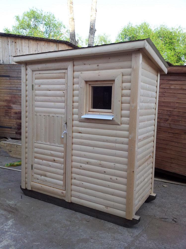 Туалет дачный деревянный Кабина К-13 №2 1.4х1.0х2.2  м