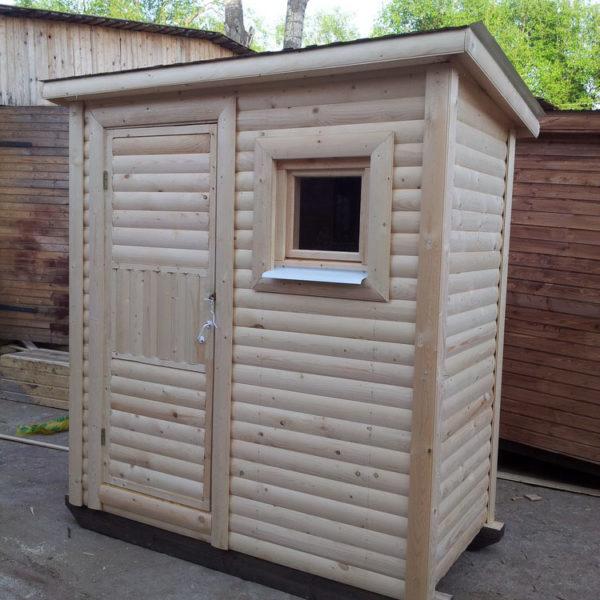 Туалет дачный деревянный Кабина К-13 №4 1.8х1.3х2.2  м