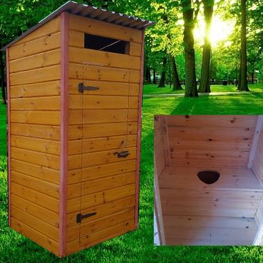 Туалет дачный деревянный Квадрат К-1 №2 1.0х1.0х2.1 м