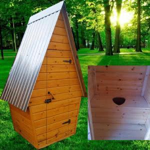 Туалет дачный деревянный Шалаш К-3 №1 1.0х1.0х2.6  м
