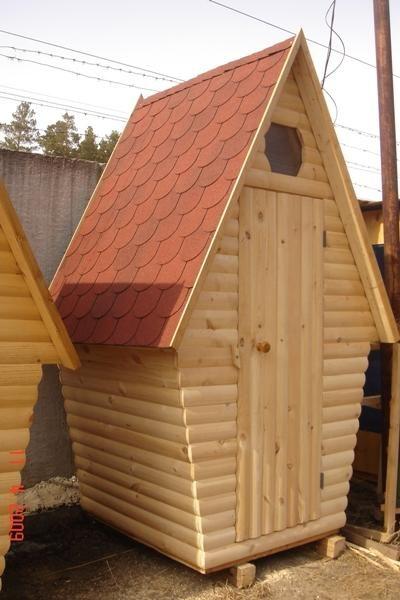 Туалет дачный деревянный Сказка К-10 №6 1.5х1.5х2.6  м