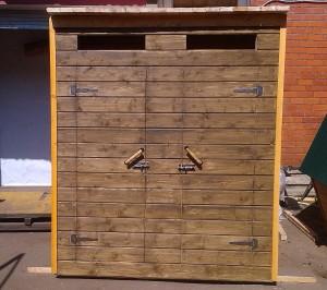 Туалет дачный деревянный с хозблоком К-5 №5 2.0х1.4х2.1  м