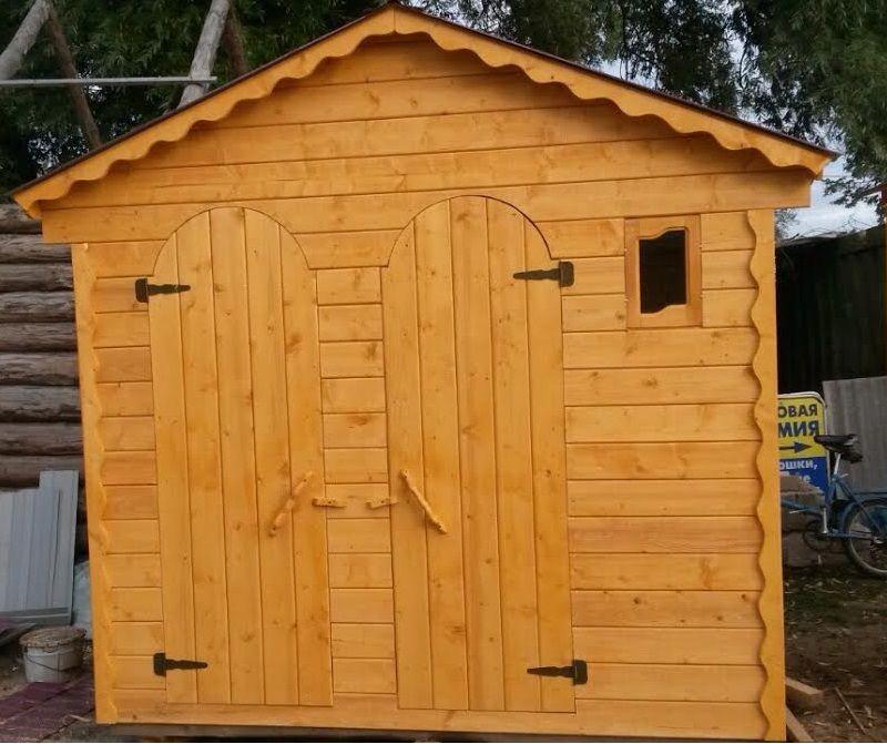 Туалет дачный деревянный с хозблоком К-6 №5 3.0х2.0х2.3 м