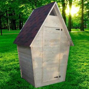 Туалет дачный деревянный Ёлка К-8
